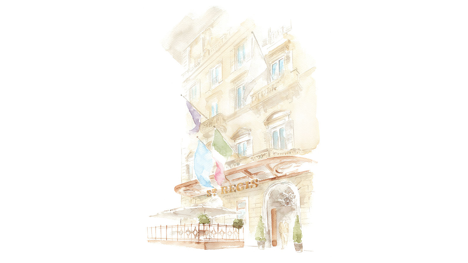 The St. Regis Florence Facade Illustration