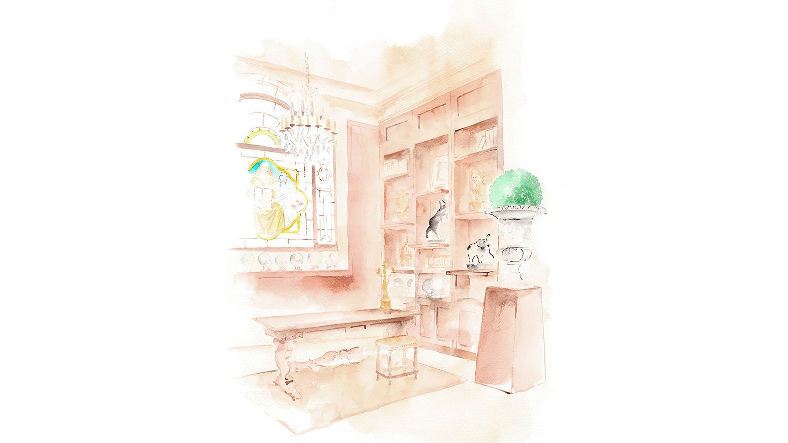The St. Regis Florence Gallery Illustration