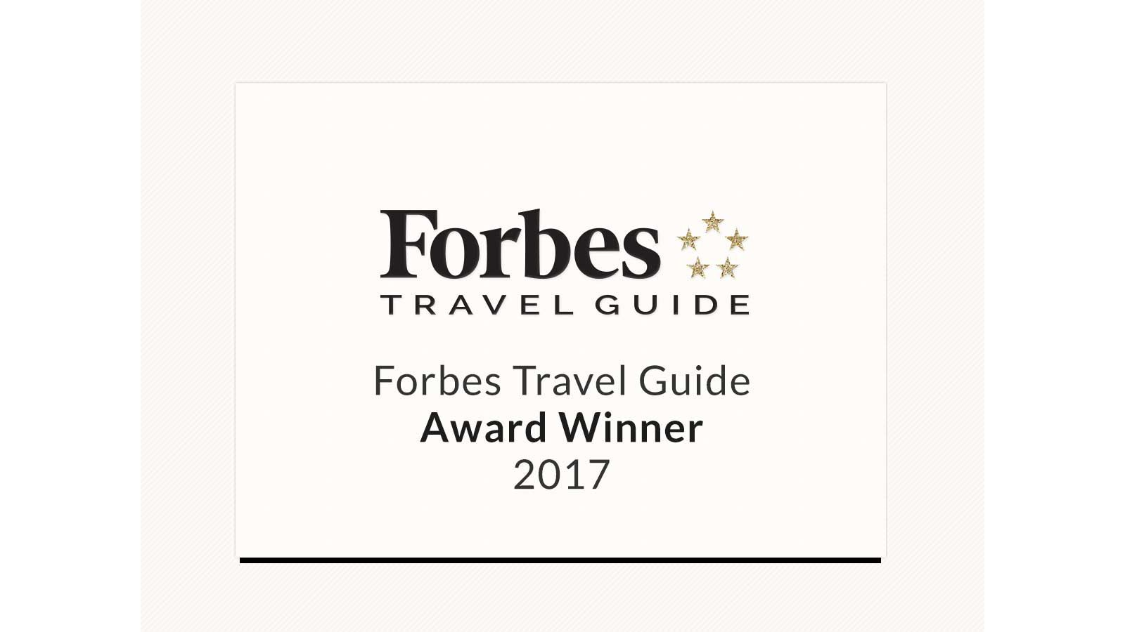 Forbes Travel Guide Four Star Award Winner