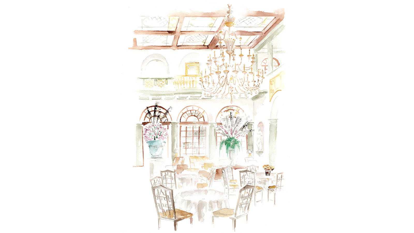 The St. Regis Florence Winter Garden by Caino Illustration